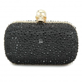Alexander Mcqueen Black BOX Clutch