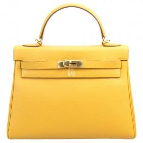 Сумка Hermes Kelly 32 Yellow