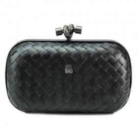 Клатч Bottega Veneta Cnot Leather Black