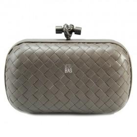 Клатч Bottega Veneta Cnot Leather Grey