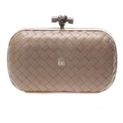 Clutch Cnot Leather Beige
