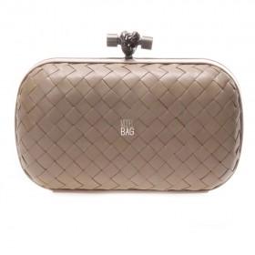 Клатч Bottega Veneta Cnot Leather Beige