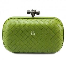 Клатч Bottega Veneta Cnot Leather Light Green