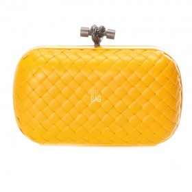 Клатч Bottega Veneta Cnot Leather Yellow