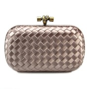 Clutch Cnot Satin Beige