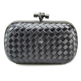 Клатч Bottega Veneta Cnot Satin Dark Grey