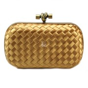 Clutch Cnot Satin Gold
