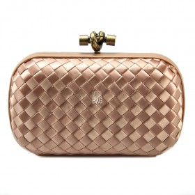 Клатч Bottega Veneta Cnot Satin Peach