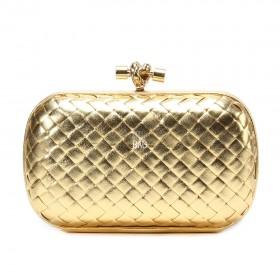 Клатч Bottega Veneta Cnot Leather gold