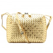 Intrecciato Nappa Messenger Bag Gold