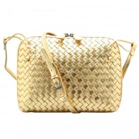 Сумка Bottega Veneta Intrecciato Nappa Messenger Bag Gold