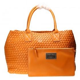 Сумка Bottega Veneta Cabat Intrecciato Nappa Tote Bag Orange
