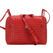 Intrecciato Nappa Messenger Bag Red