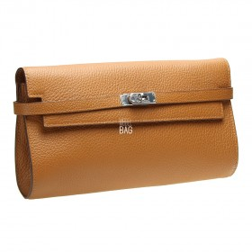 Kelly Style Clutch Camel