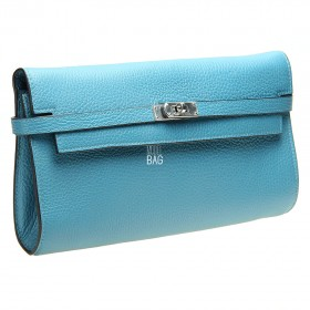 Kelly Style Clutch Blue