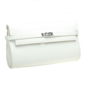 Kelly Style Clutch White