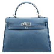 Hermes Kelly 32 Blue