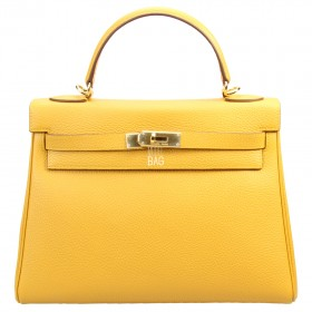 Сумка Hermes Kelly 32 Yellow