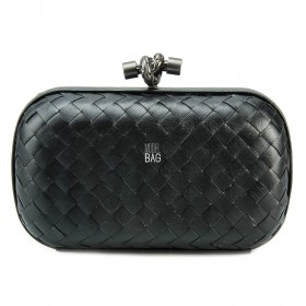 Клатч Bottega Veneta Cnot Leather Black