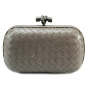 Clutch Cnot Leather Grey