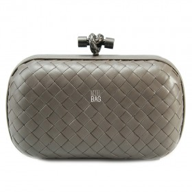 Клатч Bottega Veneta Cnot Leather Grey