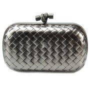 Clutch Cnot Leather Dark Silver