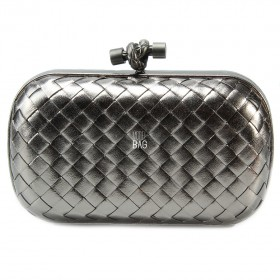 Клатч Bottega Veneta Cnot Leather Dark Silver