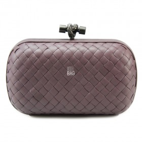 Клатч Bottega Veneta Cnot Leather Flamingo