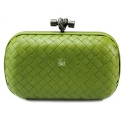 Clutch Cnot Leather Light Green