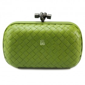 Клатч Bottega Veneta Cnot Leather Light Green