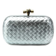Clutch Cnot Leather Silver