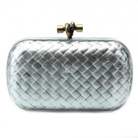 Клатч Bottega Veneta Cnot Leather Silver