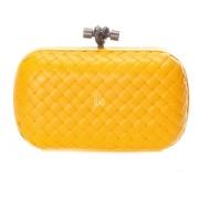 Clutch Cnot Leather Yellow