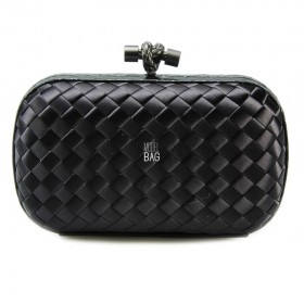 Клатч Bottega Veneta Cnot Satin Black