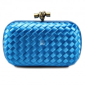 Клатч Bottega Veneta Cnot Satin Blue