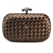 Clutch Cnot Satin Coffee