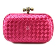 Clutch Cnot Satin Dark Pink