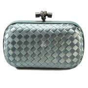 Clutch Cnot Satin Light Grey