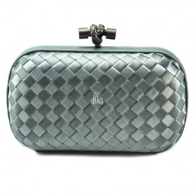 Клатч Bottega Veneta Cnot Satin Light Grey