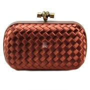 Clutch Cnot Satin Cherry