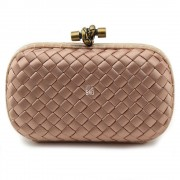 Clutch Cnot Satin Dark Beige
