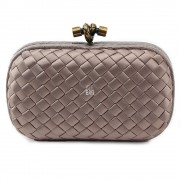 Clutch Cnot Satin Deep Beige