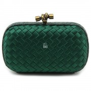 Clutch Cnot Satin Dark Green