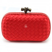 Clutch Cnot Satin Red