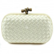Clutch Cnot Satin White