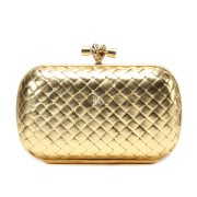 Clutch Cnot Leather Gold