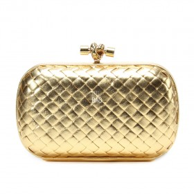 Клатч Bottega Veneta Cnot Leather gold