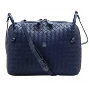 Intrecciato Nappa Messenger Bag Blue