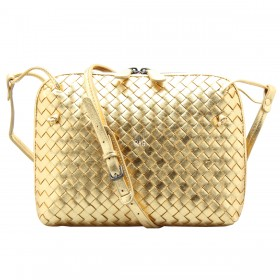 Сумка Bottega Veneta Intrecciato Nappa Messenger Bag Gold