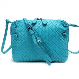 Сумка Bottega Veneta Intrecciato Nappa Messenger Bag Marina